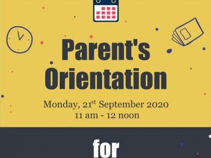 Parents' Orientation for Grade 6 & 7