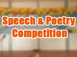 Speech and Poetry Competition | 2014 – 15