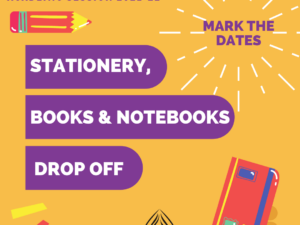 Books, Notebooks & Stationery Drop Off | ISB & PEW