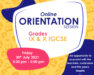 Virtual Orientation Session for Grades IX & X IGCSE