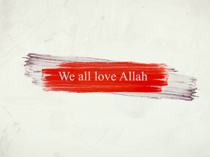 I love Allah – Junior Montessori F-8 Campus