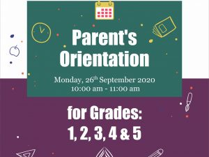 Online Orientation Session – Grades 1, 2, 3, 4 & 5 | ISB |  H-11 Campus