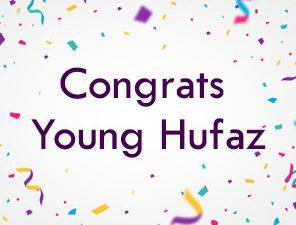 Congrats Young Huffaz!