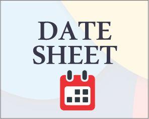 2nd End Term Test (2020-2021): Syllabus & Date Sheet