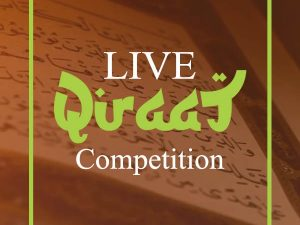 Live Qiraat Competition 2020