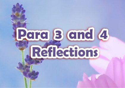 Para 3 & 4 Reflections