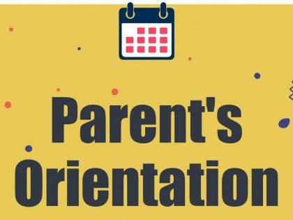 Parent's Orientation Session 2020
